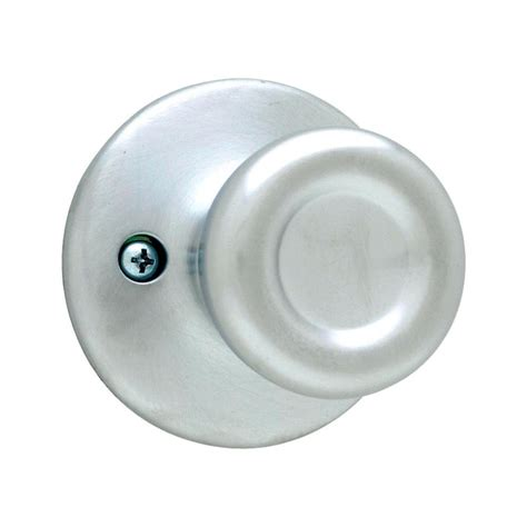 Chrome Door Knobs Shop Kwikset Kwikset Tylo Satin Chrome Dummy Door Knob At