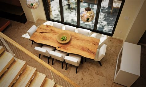 Oak Dining Room Table And Chairs by Live Edge In Interior Design