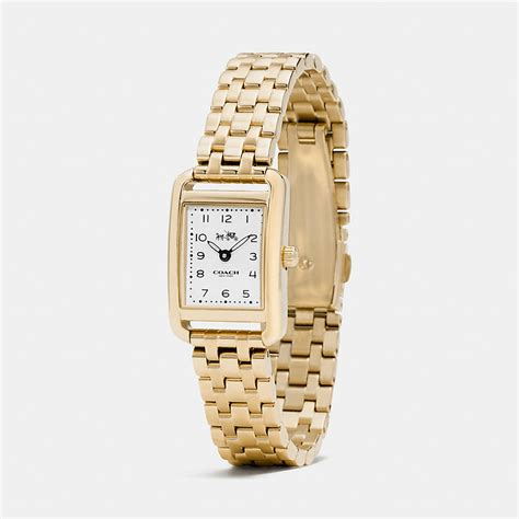 coach designer watches thompson gold plated bracelet