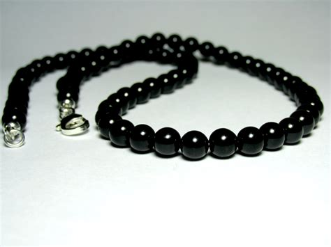 Choker Black Necklace Polos mens choker necklace black onyx necklace mens beaded