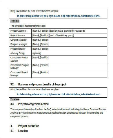 business requirement specification document template business requirement sle document 9 exles in word