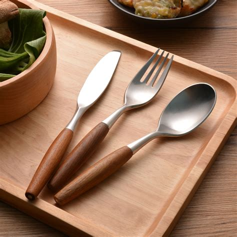 wooden handled cutlery popular wooden handled cutlery buy cheap wooden handled