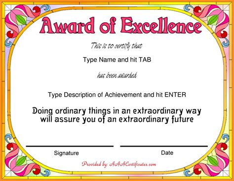 certificate templates for achievement award 13 sle certificates agenda exle