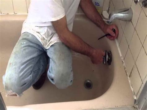 how to unclog the bathtub drain step of how to unclog a bathtub drain unclog a bathtub