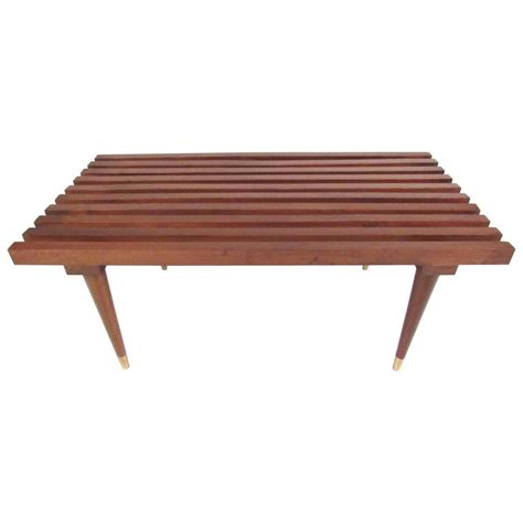 george nelson style bench george nelson style slat bench for sale at 1stdibs