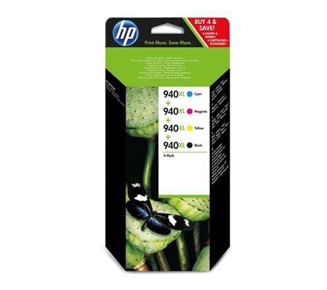 Hp 940xl Officejet Ink Cartridge C4907aa Cyan hp 940xl cyan magenta yellow black ink cartridges multipack deals pc world