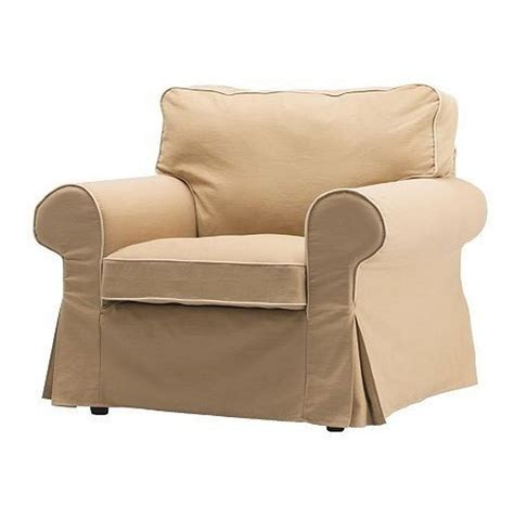 slipcover armchair new ikea ektorp armchair slipcover cover idemo beige w piping