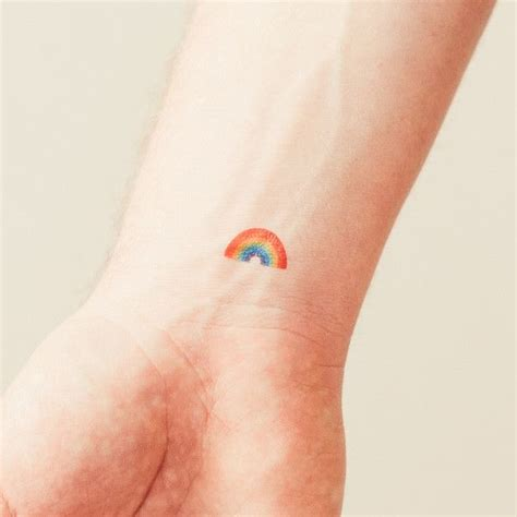 small rainbow tattoo mini designs you must pretty designs