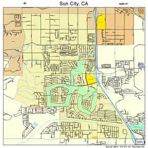 california city ca map sun city california map 0675826