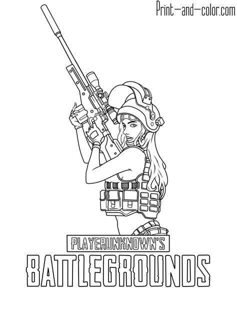 Playerunknown's Battlegrounds coloring pages | Print and ... Unknowns Battleground