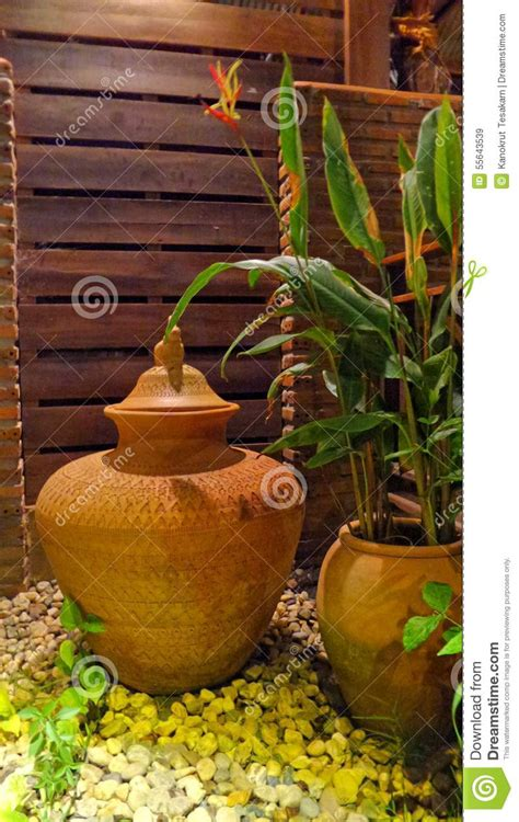 Garden Decoration Jar by Clay Water Jar Stock Photo Image 55643539