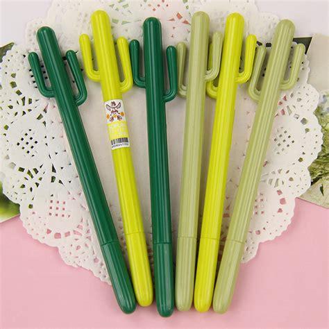 Cactus Pen 0 38mm cactus gel pen kawaii korean stationery creative gift