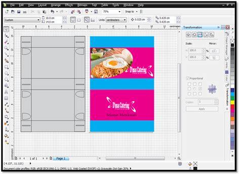 desain kemasan menggunakan corel draw membuat desain box kemasan makanan dengan corel draw ushare