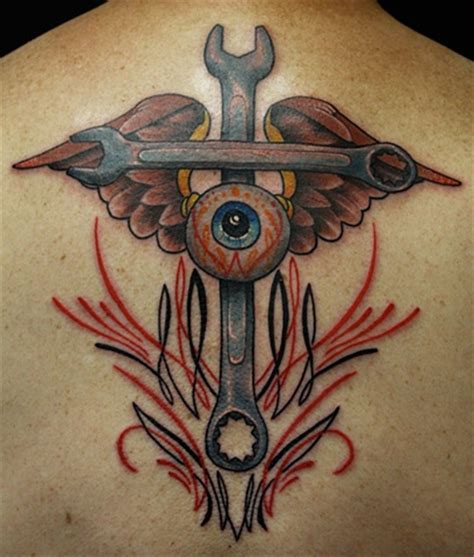 wrench tattoo designs crossed wrench