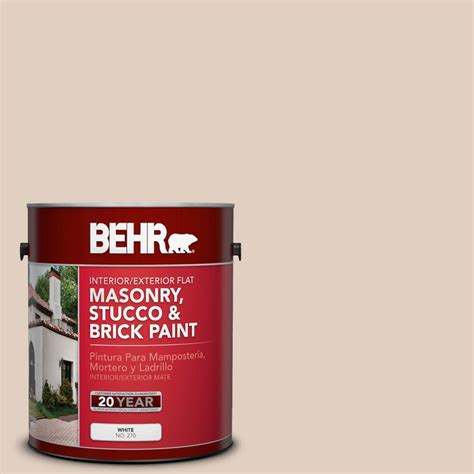 behr 1 gal n240 2 adobe sand flat interior exterior masonry stucco and brick paint 27001