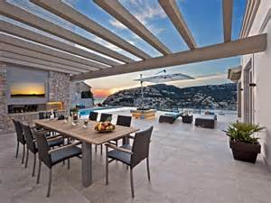 outdoor dining area beautiful spanish villa with views of port d andratx