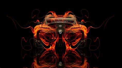 Orange Black Design toyota ft 1 back fire abstract car 2014 el tony