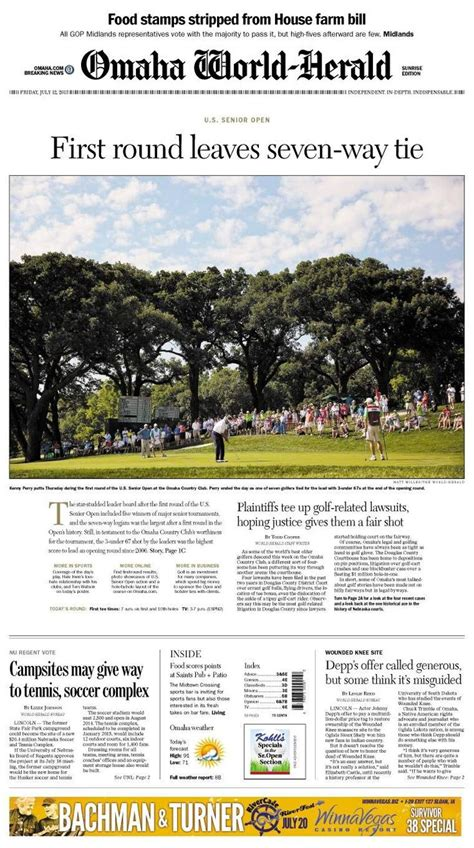 omaha world herald sports section 17 best images about front pages layouts designs and