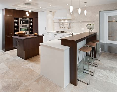Custom Kitchen Island Cost by Breakfast Bar Countertop Kitchen Contemporary With Dark