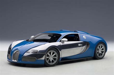 blue bugatti highly detailed autoart die cast model blue white bugatti