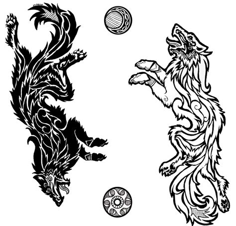 mythology tattoo designs sons of fenrir by da lizzard deviantart on deviantart