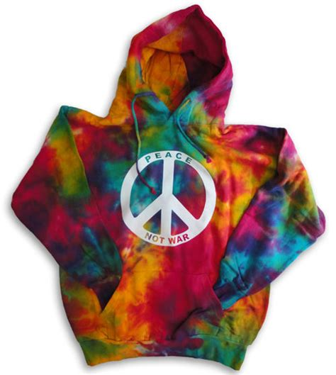design tie dye hoodie peace sign not war tie dyed hoodie pull over hooded