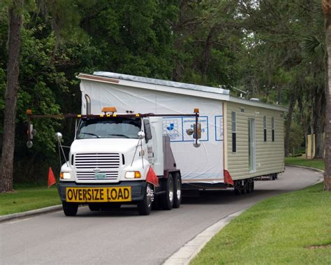 picking up moving a manufactured home