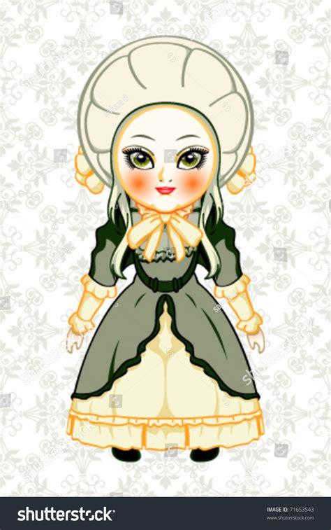 fashion doll vector fashion doll royal stock vector