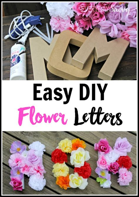 Gift With Letter A Diy Flower Letters Tutorial Easy To Make Diy Decor