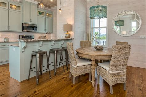 Coastal Kitchen Cabinets Turquoise Cabinets Cottage Kitchen Pat O Neal Interiors