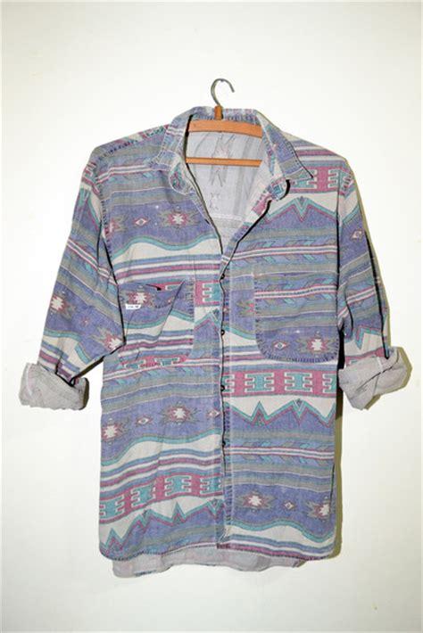 Tribal Pattern Button Up Shirt | shirt pattern denim aztec tribal pattern red green