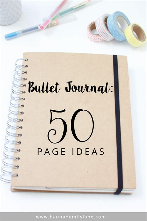 bullet journal ideas hannahemilylane bullet journal 50 page ideas