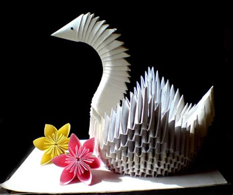 Swan Paper Craft - nits arts and crafts swan