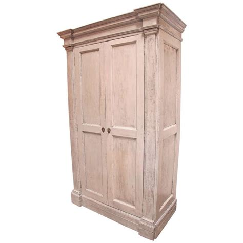 Distressed Armoire by Italian 18th C Oversized Distressed Armoire For Sale At