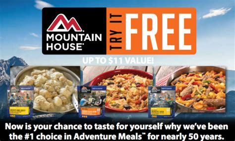 Mountain House Meals by Mountain House Freeze Dried Meals For Free Up To 11
