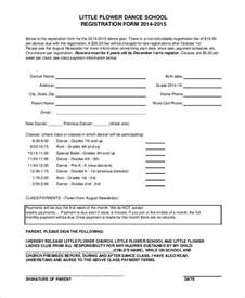 class registration template registration form template 9 free pdf word documents