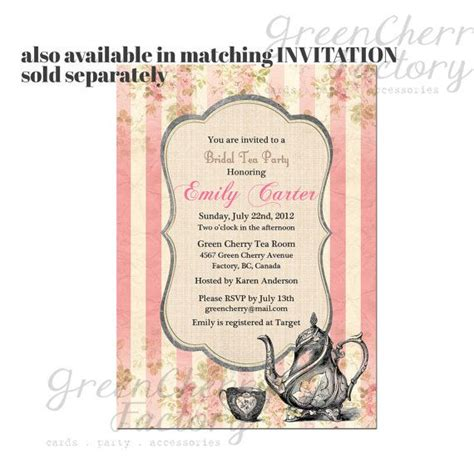 wording for bridal shower favor tags pink tea favor tag one custom wording by greencherryfactory 6 00 bridal shower