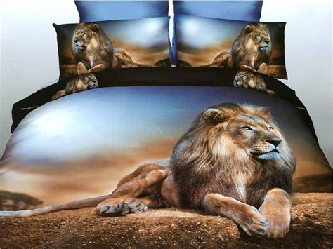 lion comforter set 3d animal print home textile lion bedding sets queen 4pcs
