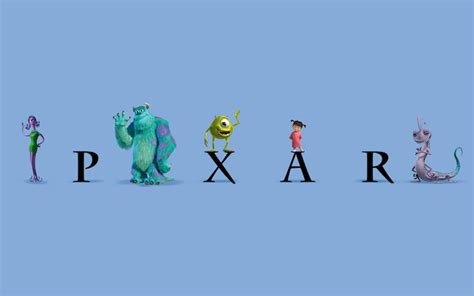 pixars casts  characters surround  classic logo