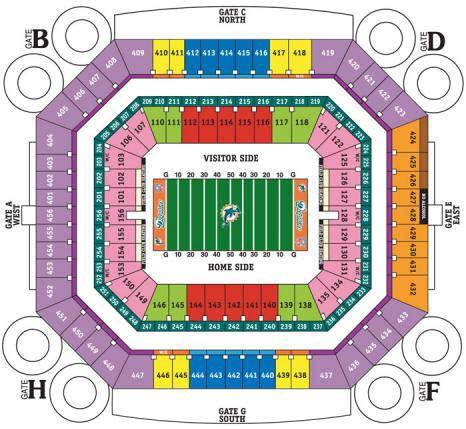 dolphin stadium seats nfl football stadiums miami dolphins stadium sun