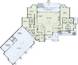 One Story Floor Plans With Two Master Suites Ranch Style House Plans 4080 Square Foot Home 1 Story
