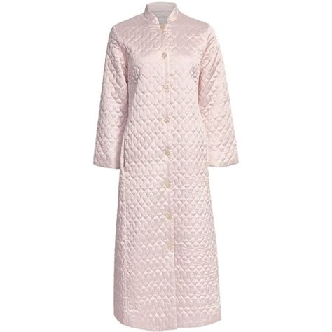 Quilted Satin Robe by Oscar De La Renta Quilted Elegance Robe Satin For