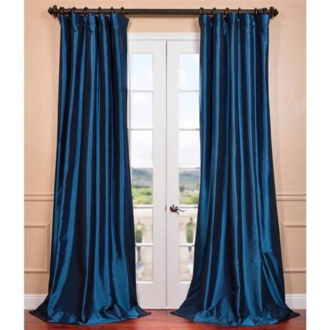 pole top curtains azul faux silk taffeta pole top curtain panel overstock