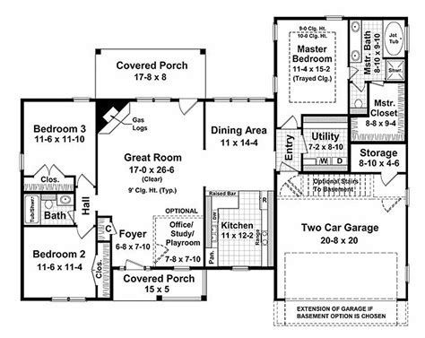 1700 sq ft house plans ranch style house plan 3 beds 2 baths 1700 sq ft plan 21 144