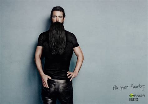 Long Hair That Looks Like a Beard, Clever Ads by Garnier