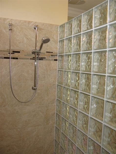 Prefab Shower Walls glass block prefabricated shower wall and ceramic tile