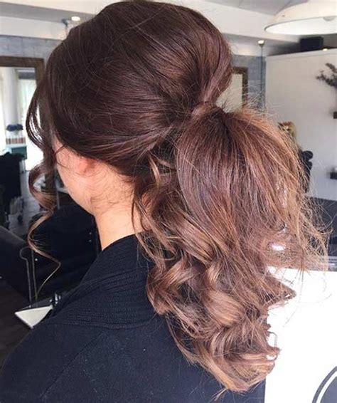 Ponytail Bottom Curly 45 ponytail hairstyles for special occasions