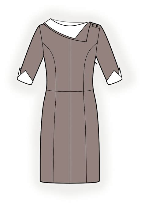 dress pattern with collar dress with collar sewing pattern 4251 made to measure