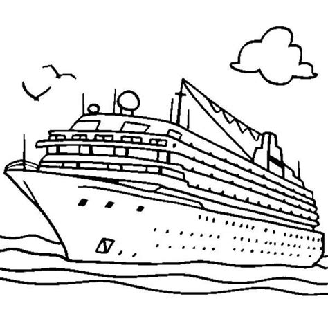 Shipwreck Coloring Pages Cruise Ship Coloring Page