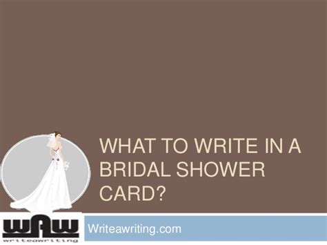what to put on wedding shower card what to write in a bridal shower card